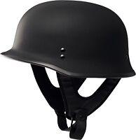 Fly Racing 9MM Half Helmet Traditional German WWII Style Flat Black