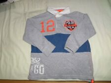 Next Boys Grey Rugby-Style T-Shirt 100% Cotton Size 4 Years