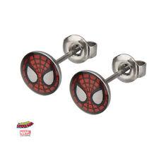 Officially Licensed Marvel Spiderman Mask Stud Earrings NEW