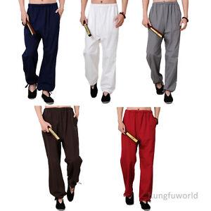 Comfortable Cotton Shaolin Kung fu Tai Chi Martial arts Pants Wushu Trousers