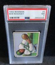 1950 Bowman # 3 Bob Nowasky RC - PSA NM 7     ENN COINS