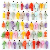 100pcs Painted Model People Figures Train Building Street Scenes Scale N 1:150