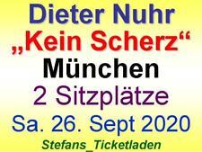 Dieter Nuhr Kein Scherz 2 Sitzplätze Sa. 26. Sept. 2020 Circus Krone München