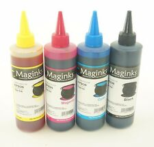 4X 250ml Dye Refill Ink For Epson Refillable Cartridges CIS CISS B Y M C
