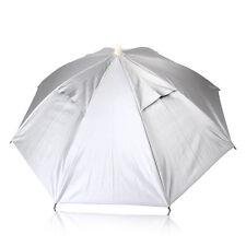 White Fishing Sun Umbrella Hiking Golf Camping Headwear Cap Head Hat In/Outdoor