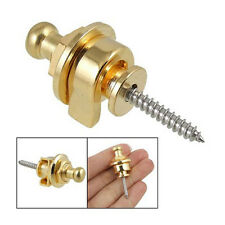 Screw Type Guitar Parts Security Strap Lock Gold Tone