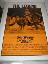 CHISUM JOHN WAYNE (1970) US AUTHENTIC ORIGINAL 27x41 MOVIE POSTER (468)