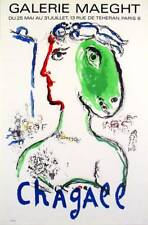 """Chagall """"The Artist as a Phoenix"""" 1972 Mourlot Lithograph Exhibition Poster"""