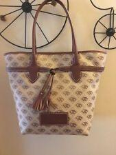 Dooney And Bourke Monogram Khaki Tote Bag