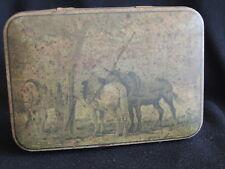 VINTAGE SWEET TIN - AUSTRALIAN - PASCALL, CLAREMONT TASMANIA-HORSES