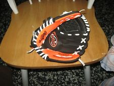 "RAWLINGS Player Series 9.5"" PL95DSO Performance Tee Ball Glove, Black/Orange"