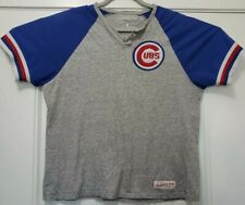 Chicago Cubs Mitchell & Ness Short Sleeve Henley Shirt T-shirt Mens LARGE