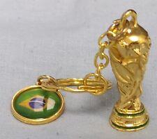 World Cup Key Ring Gold Green Blue Brazil Flag Coin Medal Qatar 2022 France USA