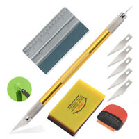 Auto Folien Set Werkzeuge Signieren Car Wrapping Rakel Lineal Messer Schaber -DE