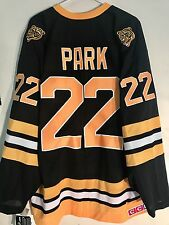 Reebok Premier NHL Jersey BOSTON Bruins Brad Park Black Throwback sz XL
