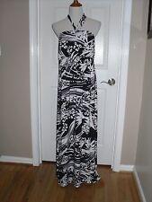 New Soma  Halter Keyhole Sundress Dress Size Extra Large $89 Optic Palm Black