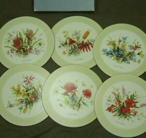 "Pimpernel Australian Wildflowers 10"" Round Placemats Set of 6 Cork Backed Boxed"