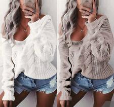 ♥Strick pulli  Pullover Top Sweater schulterfrei Weiß Größe34-42+NEU+SOFORT♥