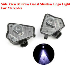 2x LED Side View Mirrow Goast Shadow Logo Light For Mercedes E-Class 2010-13 LC
