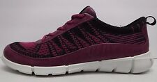 Ecco Size EUR 40 US 9 9.5 Fuchsia Knit Sneakers New Womens Shoes