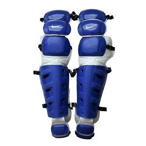 "Nike Vapor Baseball Catchers Leg Guards Royal Blue New Size 15"" PBP512-472"