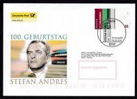 BRD 2006 Deutsche Post FDC MiNr. 2545  Stefan Andres, Schriftsteller