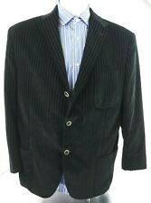 Corneliani Italy Trend Black Striped Velvet Mens Sport Coat Jacket Size 48 R