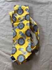 Geoffrey Beene Men's Yellow Medallion Paisley Tie