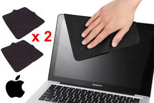 2 x Genuine Apple Microfibre Screen Cleaning Cloth for iMac MacBook iPad iPhone