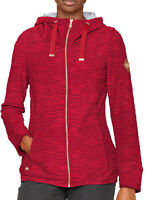 Regatta Closinda Womens Fleece Jacket Red Full Zip Stylish Leisure Sweater