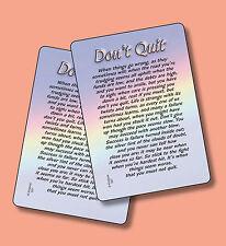"""""""Don't Quit"""" - Motivational Poem - 2 Verse Cards - SKU# 527"""
