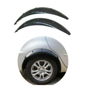 2Pcs Glossy Black ABS Car Truck SUV Fender Guards Arch Wheel Eyebrow Cover Lip