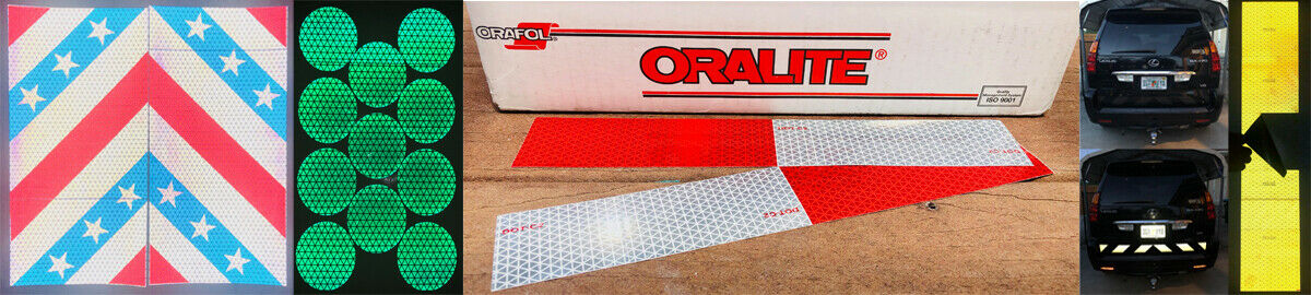 Blue /& Gold Reflective Chevron Panel Oralite V98 Custom Orafol Decal Tape