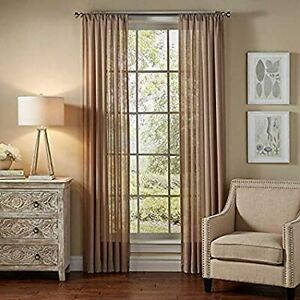 """Sheer 2Pc Window Treatments Curtain Panels 84"""" Inch Long  Polyester (10+ colors)"""