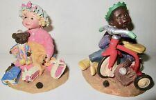 2 vintage Sarah'S Attic Figurines Limited Edition 1995 Cookie Kids & Friends