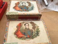 vintage Bolivar cigar box'Simon Bolivar