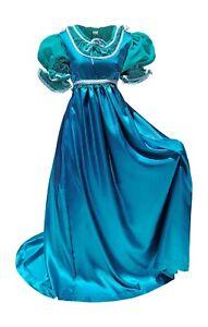Regency Victorian Satin Ball Gown // Renfaire Dress // Jane Austen Costume / SCA