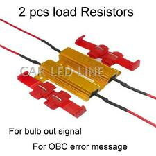 2X 50W 6ohm LED Load Resistor Fix LED Bulb Fast Hyper Flash Turn Signal 3156