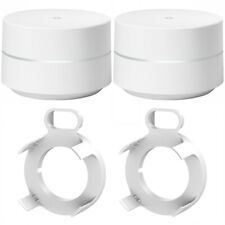 Google Wi-Fi - 2-Pack-GA00157-US) con Google Wifi Soportes de pared (2)
