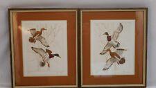 Lot of 2 vintage Victor Hohne Duck Prints. Signed, Numbered, Matted, Framed