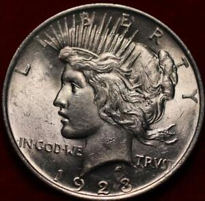 Uncirculated 1923 Philadelphia Mint Silver Peace Dollar