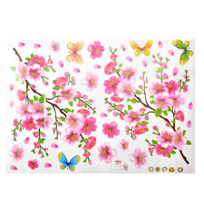 Cherry Blossom Tree Flower Butterfly Wall Sticker Vinyl Art Mural DIY Decals FLH