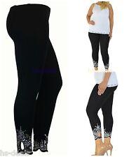 New Women's One Size Blue Aztec Border Print Legging Full Long S-XL N250 Women's Clothing