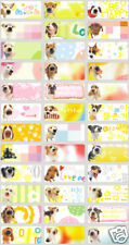 120 cute dog Pic personalised name label (Small size)
