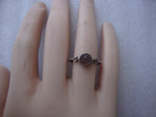 """Vintage Silver Ring with """"frosted"""" Grey Stone/Gem Size 5 1/2 Lot F2"""