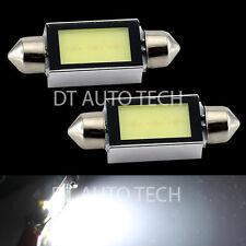 2X 6000K White COB LED Map/Dome Interior Lights Bulbs 31MM Festoon