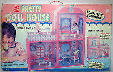 VTG 80's MY PRETTY DOLL HOUSE DETAILED PLAY SET FOR BARBIE / SINDY DOLL MIP NEW