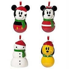 Disney MICKEY MOUSE & FRIENDS Share the Magic Ornaments Set 4 Holiday Christmas