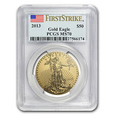 2013 1 oz Gold American Eagle Coin - MS-70 First Strike PCGS - SKU # 73668