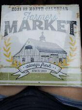 "2021/12 month calender "" Farmers Market""  by Sagebrush fine arts"